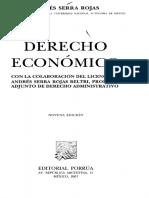 derecho economico serra rojas