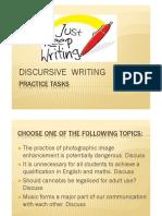 GCSE - Discursive Writing