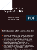Introducción a la Seguridad en Base de Datos