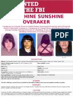 Josephine Sunshine Overaker WANTED Poster
