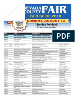 2018 Fair Daily Schedule Sun