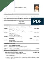 Sunain Qamar`s Cv (Mba - Finance and Frm Student)