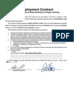 Matt Luke 2018 Employment Contract