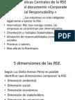 Características Centrales de La RSE Respecto Al Documento
