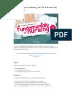 Fundamentals of Nursing 25 Practice Questions Quiz No. 2