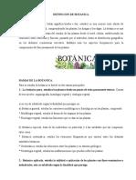 Definicion de Botanica