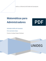 Matemáticas para Administradores, Actividad