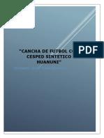 Proyecto Cancha Sintetica