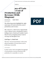 8 Main Types of Costs Involved in Cost of Production and Revenue (With Diagram)
