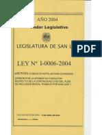 Legajo Ley I-0006-2004