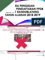 Cara Pengisian PPDB
