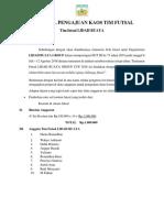Proposal Pengajuan Kaos Tim Futsal