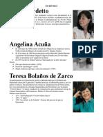 ESCRITORAS GUatemaltecas y Periodistas