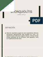 bronquiolítis