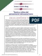 Arturo Andrés Roig_ Teoría y Crítica Del Pensamiento Latinoamericano
