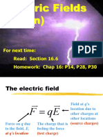 12 Electric Fields Continued