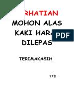 PERHATIAN MOHON ALAS KAKI HARAP DILEPAS.docx