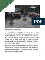 Rainy Weather Report August 2018