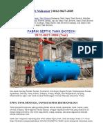 Septic Tank Biotech Makassar   0812-9627-2689