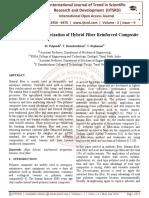 Mechanical Characterization of Hybrid Fiber Reinforced Composite