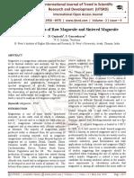 The FTIR Spectra of Raw Magnesite and Sintered Magnesite