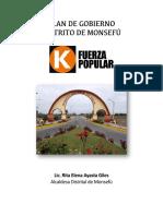 Plan de gobierno municipal- Monsefu 2018- Fuerza Popular