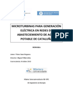 Microturbinas Para Generación Eléctrica en Redes de Abastecimiento de Agua Potable de Cataluña