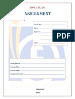 Nios d.el.Ed. Assignment Front Page
