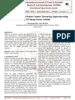 Implementation of a Radon Counter Measuring Apparatus using CCD Image Sensor Module