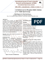 Method Development of Methotrexate in Phosphate Buffer Solution by UV-Visible Spectroscopy