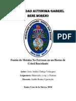 Fusion de Los Metales No Ferrosos(Aluminio y Bronce)