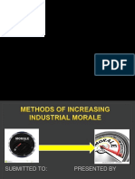 Methods of increasing industrial morale