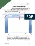 Word 2007 Intro