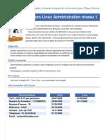 Formation Linux Administration Niveau 1