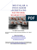 A linguagem secreta do network marketing