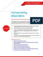 Personality Disorders Factsheet