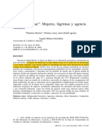 Muñoz Fernández, Plantus Mariae. Mujeres, Lágrimas y Agencia Cultural