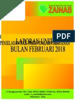 Cover Laporan Unit K3 Bulan Februari 2018