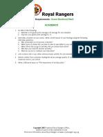 Royal Rangers  Green Merit requirements