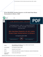 [Case Brief] M_s Haridas Exports V_s All India Float Glass Association & Others, 2002 – Law Briefs