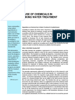 Chemicals Use in Drinking Water Treatment Plant