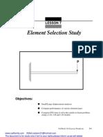 MSC PATRAN Beam Element Study