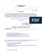 Bar Examination Questionnaire for Remedial Law 2006