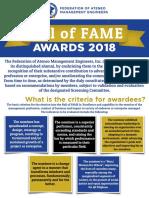 Hall of FAME 2018 Primer