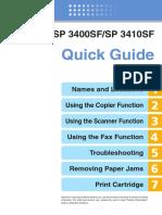 RICOH SP 3400SF/SP 3410SF  Fax Quickguide