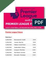 Premier League Fixtures || Live Premier League