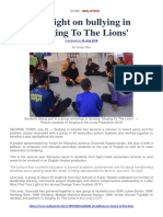Singing to the Lions (Malay Mail Coverage)