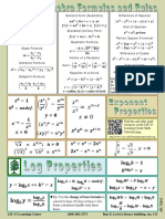 Algebra Formulas for college students