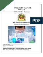 Lab Manual Biology- AGR 2 Sem