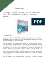 PC Install_ Descargar, Activar AutoCAD Civil 3D 2018, 2017, 2016, 2015 en Español e Ingles (32_64-Bits)-[MEGA]
